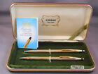 Cross l4k Solid Gold Vintage Ball Pen and Pencil Set-NEW IN BOX