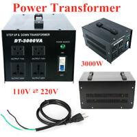 3000W Heavy-Duty Step Up Down Voltage Converter Transformer 110/220V to 220/110V