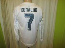 Real Madrid Adidas adizero Langarm Spieler Trikot 2015/16 + Nr.7 Ronaldo Gr.L