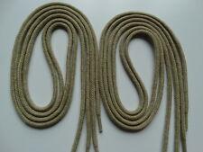 2 Pairs 90cm Beige Round Cotton Shoe Boot Trainer Laces