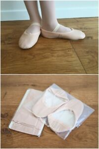 BALLET DANCE COMBO - Leather Ballet Shoes AND  Ballet Pink Convertible Tights