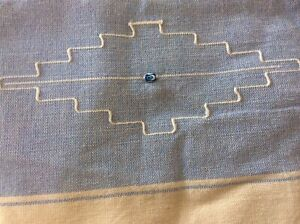Traditional Handmade Turkish Lucky Eye Blue Tablecloth/throw 206 X 140cm