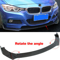 Universal ABS Carbon Fiber Look Front Bumper Lip Chin Spoiler Wing Body Kit 3Pcs