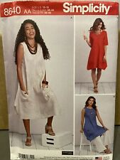 Simplicity Sewing Pattern 8640 Size AA US 10-18