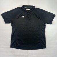 Adidas Climalite Men's Size L Black Short Sleeve Polo Golf Shirt Breathable Wear