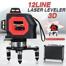 360° 12 Line 3D Laser Automatic Self Leveling Vertical & Horizontal Level Cross