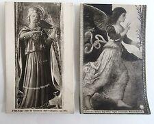 2 alte Künstlerkarten ~1920/30 Firenze Florenz Galleria Museumsmotive Italien