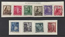 ITALY 1938 complete set Empire Proclamation Sc#400-9 CV $116.10 used