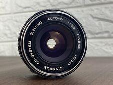 Olympus OM-System G.Zuiko Auto-W 1:3.5 28mm Lens For OM10 OM20 OM2-n OM1n OM40