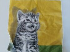 vintage NWOT handkerchief with kitten