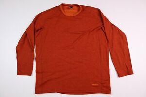 Patagonia Men's XL Performance Baselayer Capilene Long Sleeve Shirt Orange