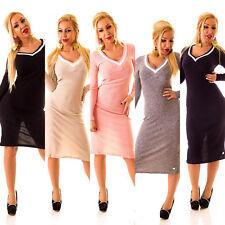 Markenlose Casual Damenkleider mit V-Ausschnitt