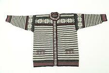 "Norwegian Skjaeveland Wool cardigan GREAT CONDITION 50"""