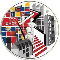Deutschland 20 Euro 2019 Bauhaus Silber Gedenkmünze in Farbe