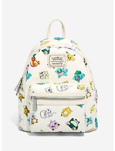 Loungefly Pokemon Gen 1 Allover Print Mini Backpack