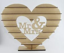 "Unique ""Mr & Mrs"" Stand for  Ferrero Rocher Heart Tree Wedding Display"