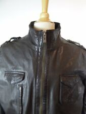 ZARA MAN BLACK TURKISH LEATHER MOTO JACKET COAT XL Excellent!