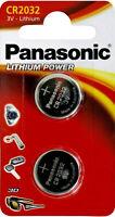 2 Panasonic Lithium 3V Zelle 1x 2er Blister CR2032 IEC C Knopfzelle CR-2032EL/2B