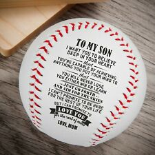 To My Son Love You From Mom Engraved Baseball Gift Anniversary Birthday Ball