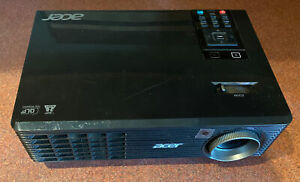 TESTED & WORKS GREAT....ACER Black Projector X 1161 P DLP 3D ready