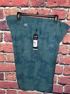 Adidas Mens 38 Waist Green Camo Golf Shorts New With Tags