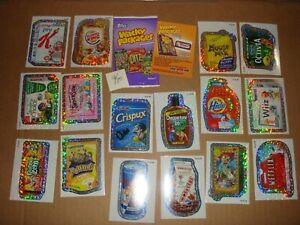 WACKY PACKAGES NEW SERIES 7 (2010) ~ WACK-O-MERCIALS SILVER BORDER LOT OF 16 HTF