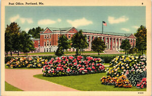 Portland, Maine, Post Office - Postcard (B18)