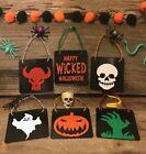 Lot of 6 Spooky Halloween Tree Ornaments, Halloween Decorations, Zombie Ornament