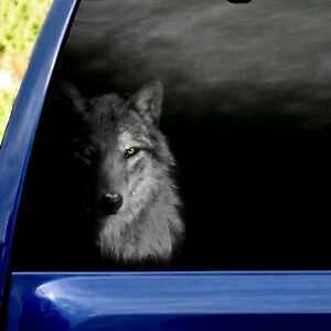 Cool Wolf Vinyl Sticker Decal Car Auto Truck Window, Animals Crack car Sticker