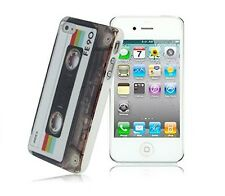 Cover Case Rigida Protettiva per iPhone 4 4S Tape Cassetta Old Music