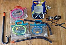 Lot De 4 Masques Mares + 1p lunettes De Plongée ancien NEUF