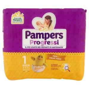 Pampers Progressi Newborn 1 Pannolini Neonato Bambini da 2 a 5 Kg 28 Pezzi