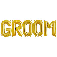 Party Supplies Gold 41cm Foil Letters Balloon 'GROOM' Wedding Engagment