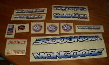NOS BMX Mid School Mongoose Solution Team Bicycle Sticker Set