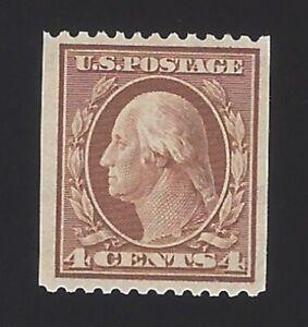 US #350 1908-10 Orange Brown Perf 12 Horz Wmk 191 Mint OG LH F-VF SCV $140