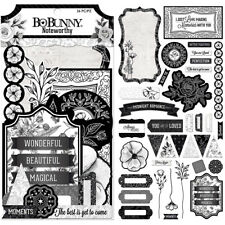 Bo Bunny Black Tie Affair Collection Noteworthy Journaling Cards 7310146