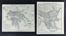 1847 Flemming Map 2 Maps Greece Turkey Cyclades Athens Constantinople Crete