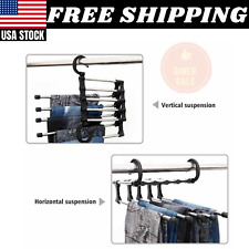 5 in1 Multi-functional Pants rack shelves Stainless Steel Wardrobe Magic Hanger