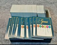 Trivial Pursuit Box of Genus Edition Question Cards Approx 500 Cards *Free P&P*