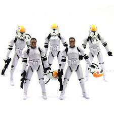Lot 5Pcs Star Wars 2005 Clone Pilot TROOPER Revenge Of The Sith Figure hasbro