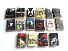 OOAK 1/12th Scale Dollhouse Miniature Gothic Books x 16 - Rebecca, Dragonwyck