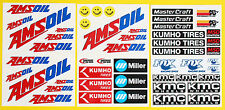 RC LARGE 5th SCALE AMSOIL CORR Racing Short Course LAMINATED stickers decals
