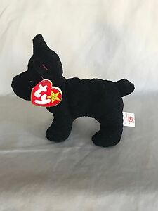 Rare Scottie Ty Beanie Baby 6-15-96 DOB with Tag Errors, PVC Pellets