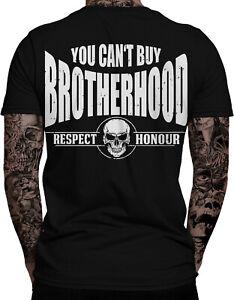 YOU CAN'T BUY BROTHERHOOD Biker Herren T-Shirt MC Outlaw Bobber Motorrad Chopper