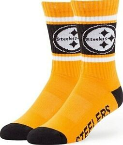 Pittsburgh Steelers NFL Men's '47 Duster Casual Dress Crew Socks, 1-Pair, Large