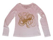 SANCRO' T-shirt  KRAKEN PIOVRA Manica Lunga Maglia Donna Panna S Cotone Organico