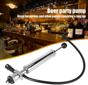 BRAND S Type - Beer Party Pump Draft Keg Tap hose Stainless Steel 8inch UK STOCK