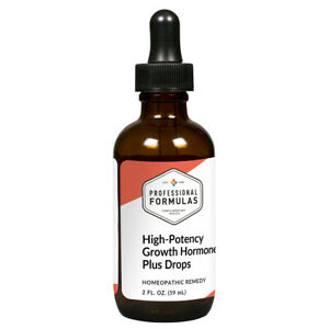 High-Potency GROWTH HORMONE PLUS DROPS 2 fl.oz Professional Formulas - Natural