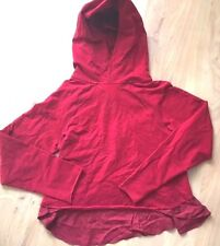 LULULEMON Pull Me Over Hoodie Sweatshirt Pullover Dark Red size 4 EUC Gym Run