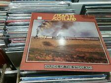 """""""The World of Railways- Steam in Scotland"""" Rare Vinyl LP-"""